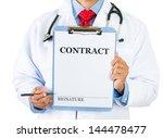closeup portrait of health care ... | Shutterstock . vector #144478477