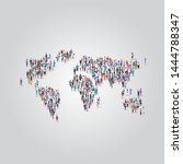 people crowd gathering in world ... | Shutterstock .eps vector #1444788347
