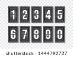 countdown numbers flip counter...
