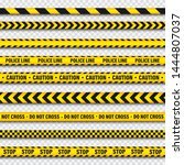 yellow and black barricade... | Shutterstock .eps vector #1444807037