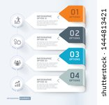 business infographic elements... | Shutterstock .eps vector #1444813421