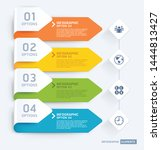 business infographic elements... | Shutterstock .eps vector #1444813427