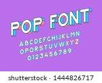 retro font in pop art style....   Shutterstock .eps vector #1444826717