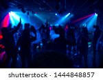 Silhouettes Of A Crowd Of...