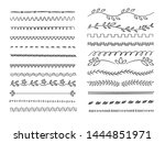 hand drawn lines. web dividers... | Shutterstock .eps vector #1444851971