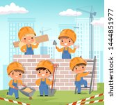 construction background. little ... | Shutterstock .eps vector #1444851977