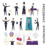 magician. show performer in... | Shutterstock .eps vector #1444852064