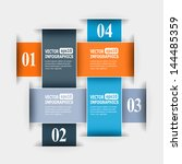 abstract paper infographics.... | Shutterstock . vector #144485359