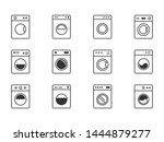 washing machine icon set ... | Shutterstock .eps vector #1444879277