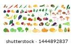 set of fresh tasty fruits and...   Shutterstock .eps vector #1444892837