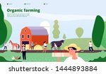 farmer landing page.... | Shutterstock .eps vector #1444893884