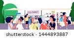 flea market. women shoppers... | Shutterstock .eps vector #1444893887