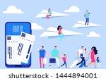 vector online tickets concept....   Shutterstock .eps vector #1444894001
