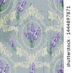 damask ornament and lavender... | Shutterstock .eps vector #1444897871