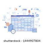 planning schedule online web... | Shutterstock .eps vector #1444907804