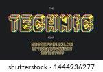 technic 3d bold font trendy... | Shutterstock .eps vector #1444936277