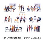 collection of scenes at office. ... | Shutterstock . vector #1444965167