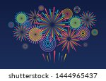 fireworks background. vector... | Shutterstock .eps vector #1444965437