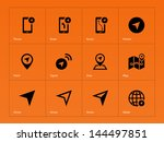 navigator icons on orange...
