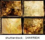 set of grungy framed backgrounds - stock photo
