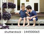children  two small boys... | Shutterstock . vector #144500065
