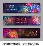 happy new year horizontal... | Shutterstock .eps vector #1445000987