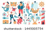 collection of adorable pirates  ... | Shutterstock . vector #1445005754