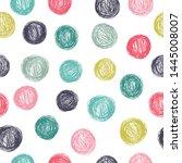 polka dot seamless vector... | Shutterstock .eps vector #1445008007