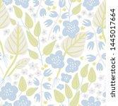 vector floral seamless pattern...   Shutterstock .eps vector #1445017664