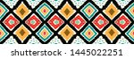 ikat geometric folklore... | Shutterstock .eps vector #1445022251