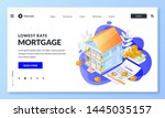 house mortgage and real estate... | Shutterstock .eps vector #1445035157
