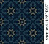 moroccan tile pattern oriental... | Shutterstock .eps vector #1445040227