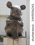 Small photo of NOVOSIBIRSK, RUSSIA - JULY 3, 2019: Monument to the laboratory mouse is a sculpture in the city of Novosibirsk in Siberia, Russia, Institute of Cytology and Genetics of the Russian Academy of Sciences