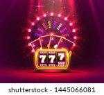 casino neon colorful fortune... | Shutterstock .eps vector #1445066081