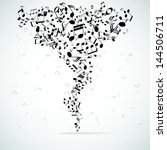Musical Abstract Vector...
