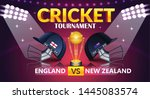 cricket tournament  england v s ... | Shutterstock .eps vector #1445083574