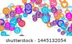 social media marketing ... | Shutterstock .eps vector #1445132054