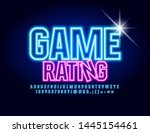 vector neon glowing sign game... | Shutterstock .eps vector #1445154461