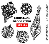 vector set of christmas... | Shutterstock .eps vector #1445170304