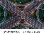 aerial view of highway and... | Shutterstock . vector #1445181101