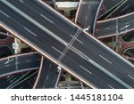 aerial view of highway and... | Shutterstock . vector #1445181104