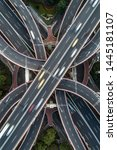 aerial view of highway and... | Shutterstock . vector #1445181107
