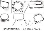comic speech bubbles and comic... | Shutterstock .eps vector #1445187671
