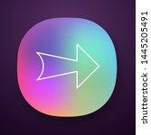 wide arrow app icon. rightward...
