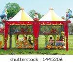 kids riding puffer train in... | Shutterstock . vector #1445206