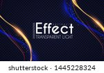 motion light effect. shining... | Shutterstock .eps vector #1445228324