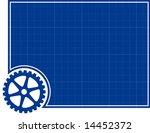 cog and blueprint background   Shutterstock .eps vector #14452372