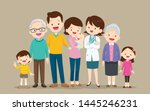 doctor and family.big family... | Shutterstock .eps vector #1445246231