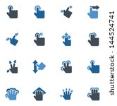 Touch Screen Hand Gestures Icons