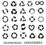set of 15 black vector icons of ... | Shutterstock .eps vector #1445250851